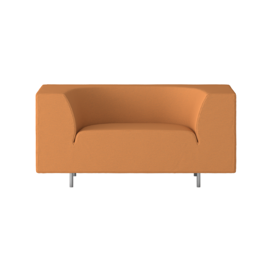 Orange Loveseat